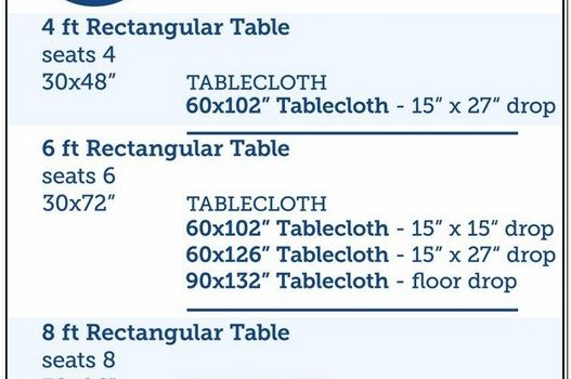 What Size Tablecloth For A 6 Foot Oval Table