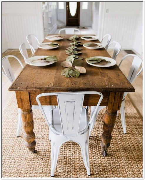 Tables Chairs For Sale: White Farmhouse Table And Chairs For Sale