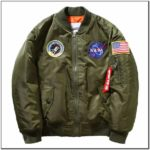 Avidace Mens Bomber Jacket Nylon With 3 Patches Patterns