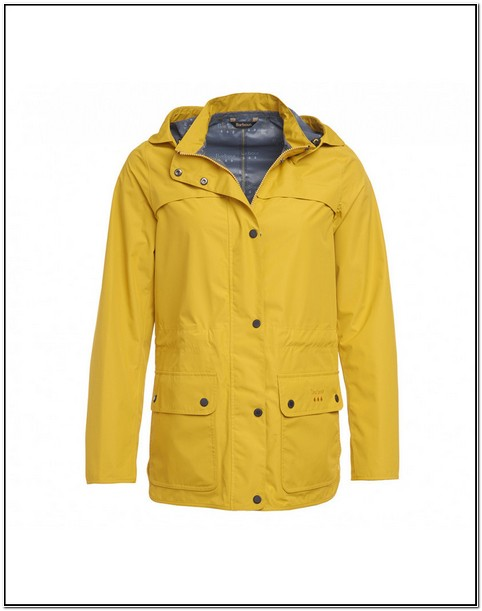 Barbour Yellow Rain Jacket Womens