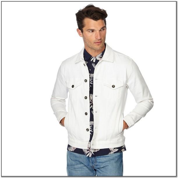 Big And Tall White Denim Jackets