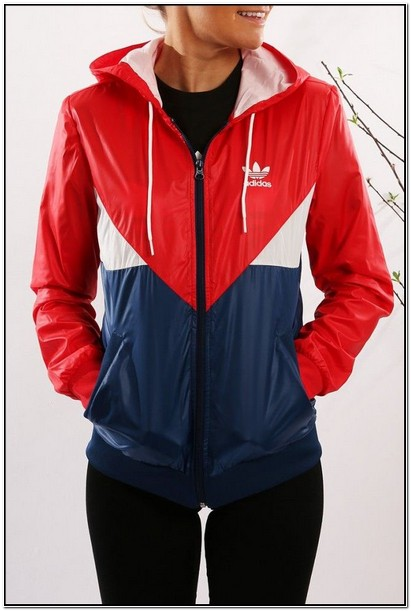 Black And Red Adidas Jacket Womens