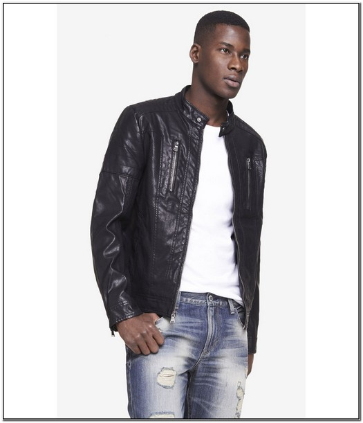 Black Leather Jacket Mens Express