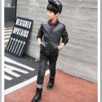Black Toddler Boy Bomber Jacket