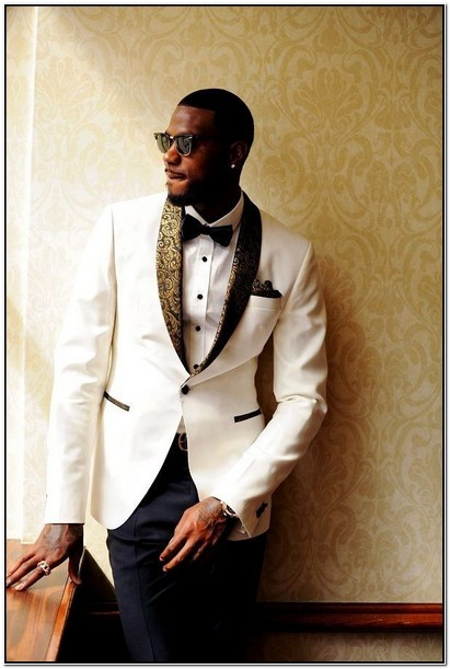 Black White And Gold Suit Jacket