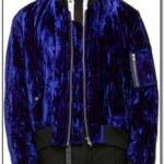 Blue Velvet Bomber Jacket Mens