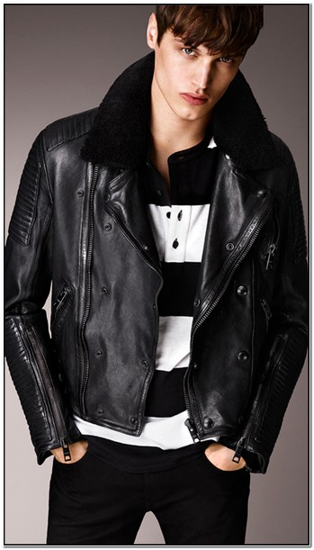 Burberry Mens Leather Jacket Sale