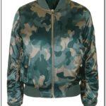 Camo Bomber Jacket Women's Topshop