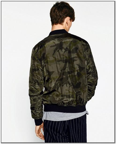 Camo Jacket Mens Zara