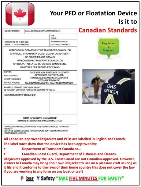 Canadian Coast Guard Approved Life Jackets