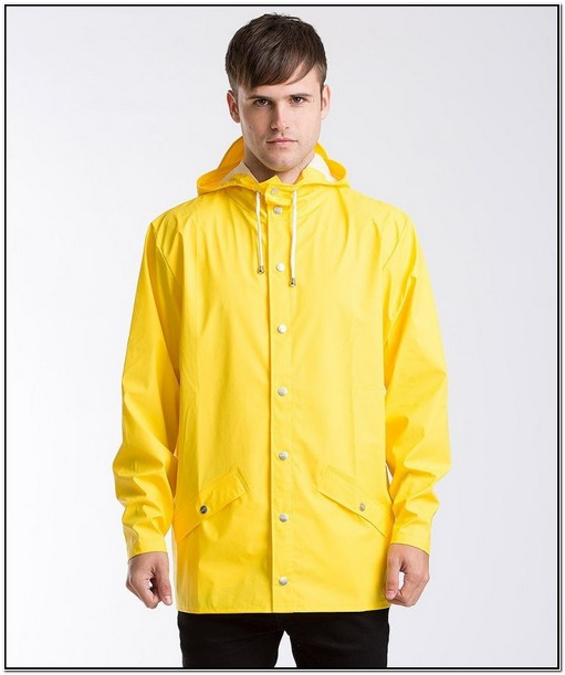 Classic Yellow Rain Jacket Mens
