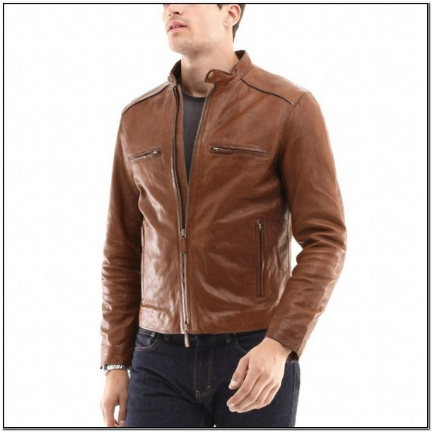 Coach Mens Brown Leather Jacket