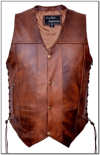 Concealed Carry Mens Leather Jacket