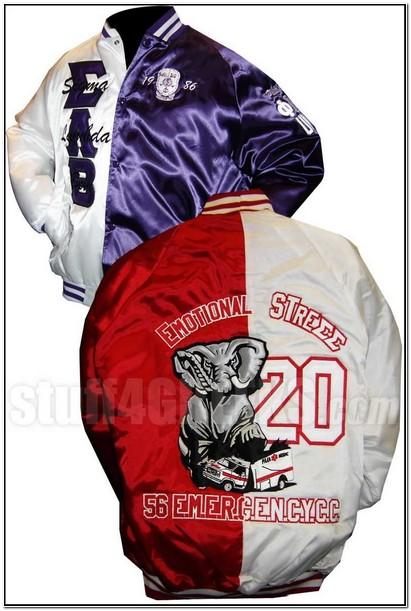 Custom Greek Satin Baseball Jacket