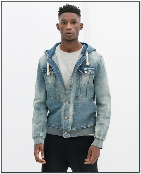 Denim Jacket With Fur Mens Zara