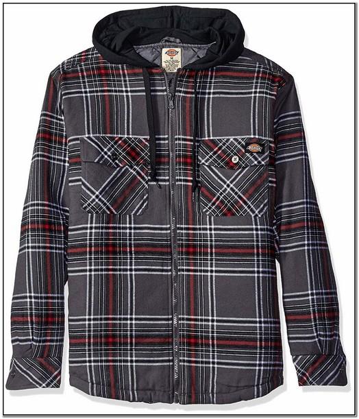 Dickies Flannel Jacket With Hood