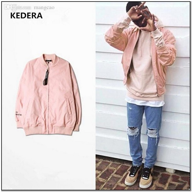 Dusty Pink Bomber Jacket Mens