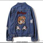 Embroidered Denim Jacket Mens