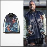 Embroidered Silk Bomber Jacket Mens