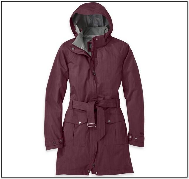 Fleece Lined Rain Jacket Womens With Hood