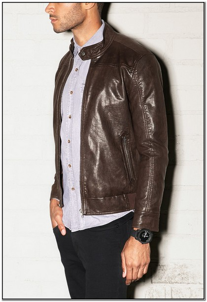 Forever 21 Mens Brown Leather Jacket