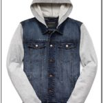 Forever 21 Mens Jean Jacket With Hood