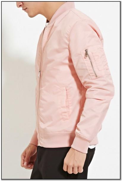 Forever 21 Pink Bomber Jacket Mens