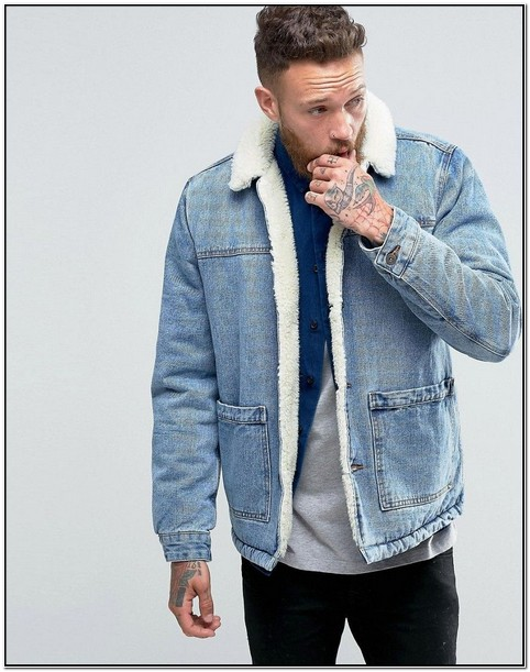 Fur Lined Jean Jacket Mens