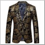 Gold And Black Paisley Suit Jacket