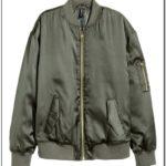 Green Bomber Jacket Womens H&m