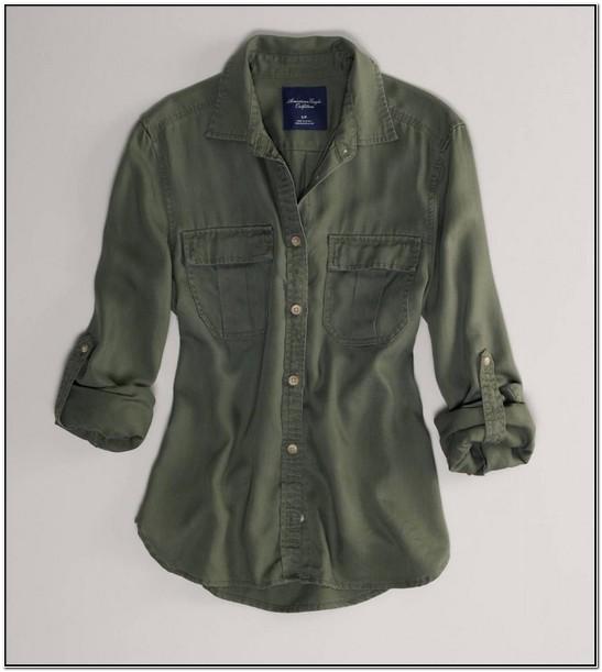 Green Utility Shirt Womens