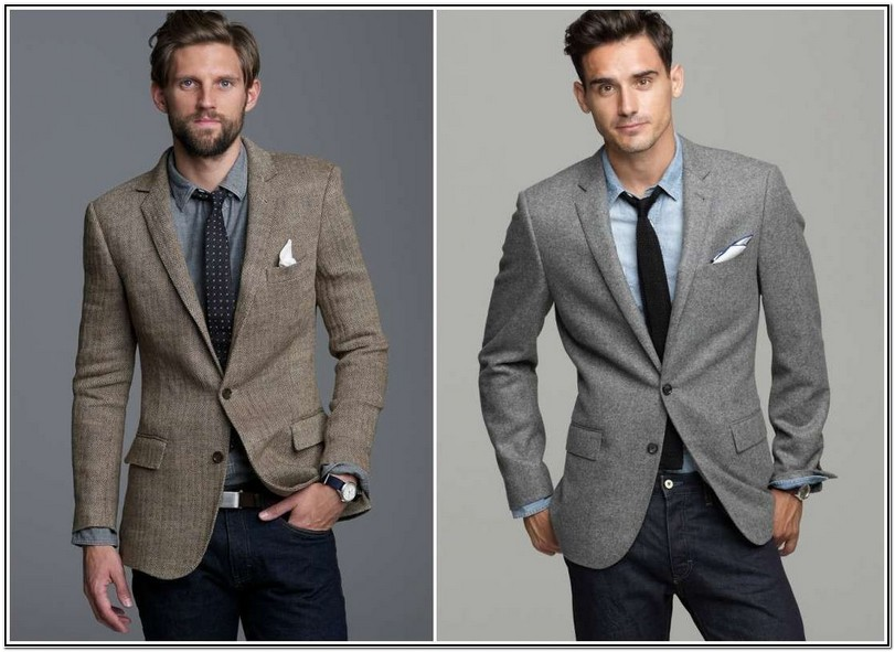 Grey Sport Jacket With Jeans