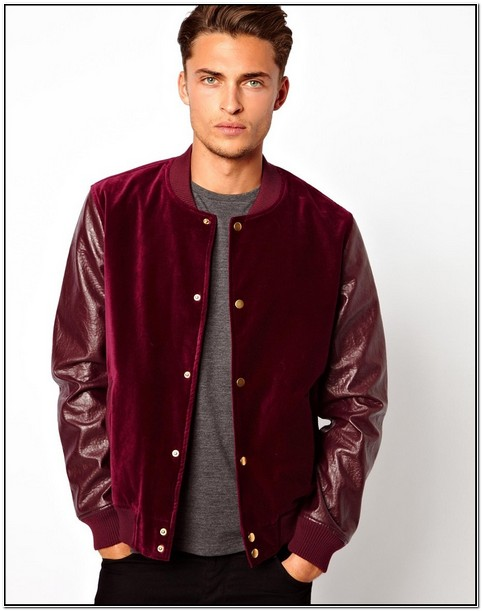 Grey Velvet Bomber Jacket Mens