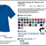 Greys Anatomy Scrub Jacket Size Chart