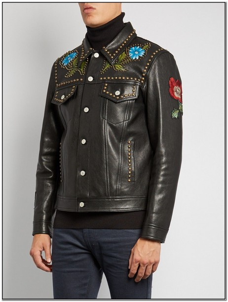 Gucci Mens Leather Jacket Uk