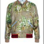 Gucci Mens Silk Bomber Jacket