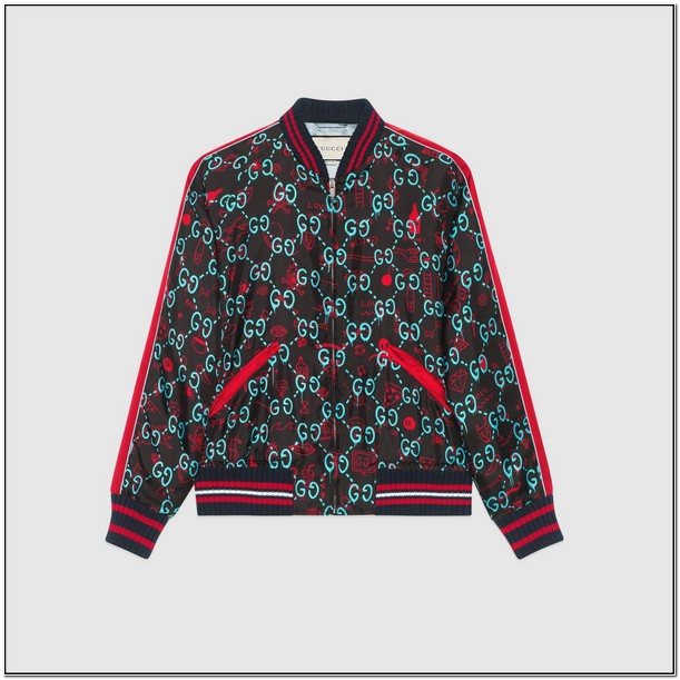 Guccighost Bomber Jacket Mens
