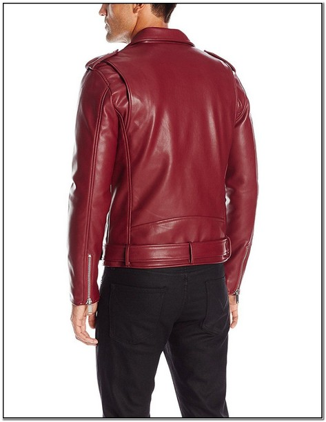 Guess Mens Asymmetrical Faux Leather Jacket
