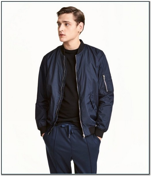 H And M Bomber Jacket Black
