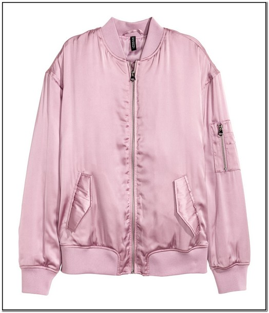 H And M Bomber Jacket Pink