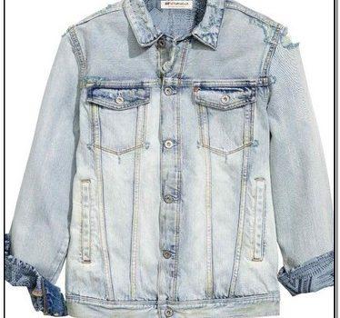 H&m Distressed Denim Jacket Mens