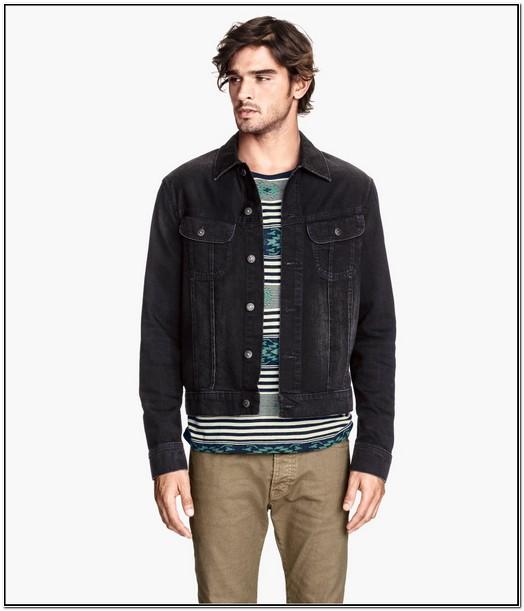 H&m Mens Black Denim Jacket