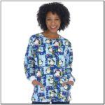Holiday Printed Scrub Jackets