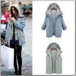 Hooded Denim Jacket Ladies