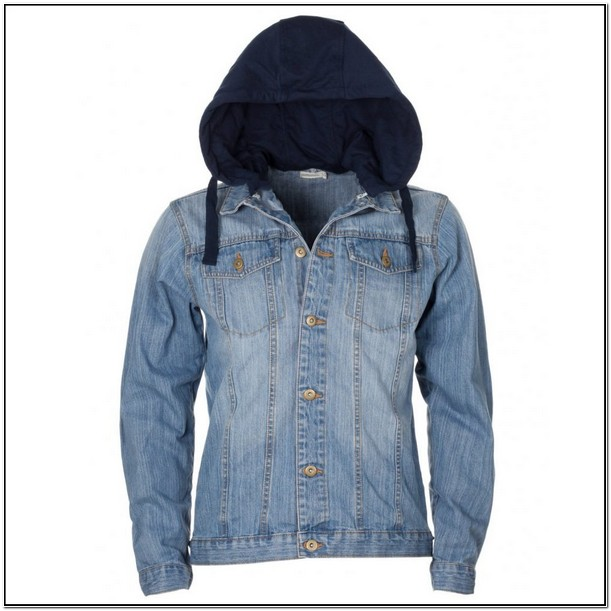 Hooded Denim Jacket Womens Uk