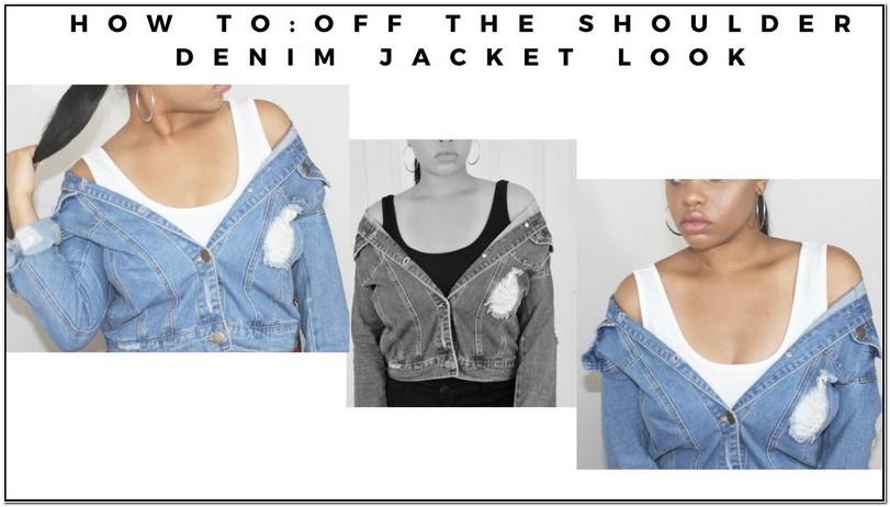 How To Make A Off The Shoulder Jean Jacket