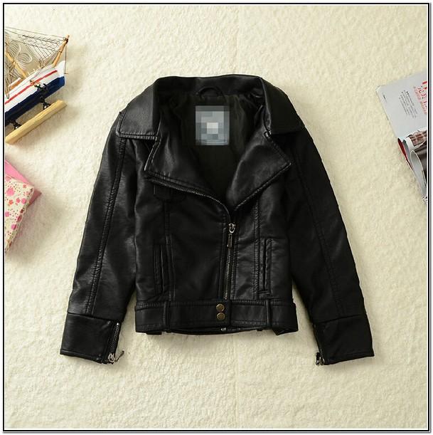 Infant Black Leather Jacket