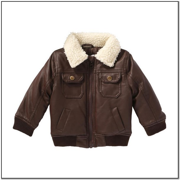 Infant Leather Bomber Jacket