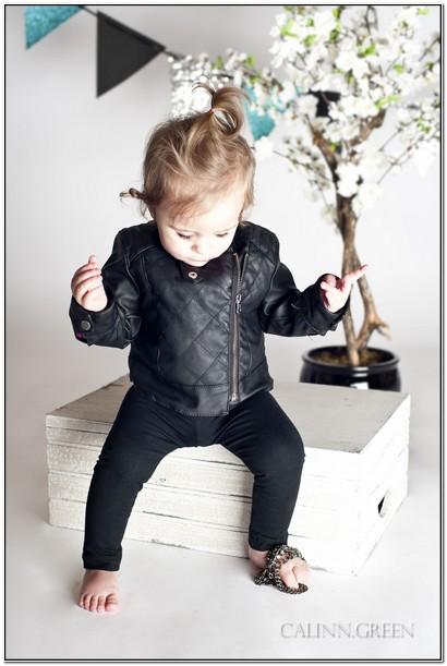 Infant Leather Jacket Girl