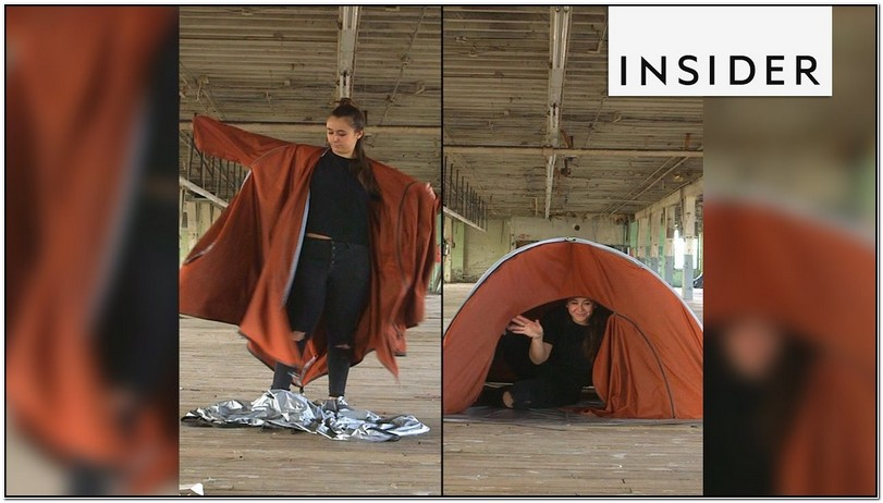 Jacket That Turns Into A Tent Commercial